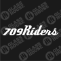 Decal-709Riders-2-rev-1col-white